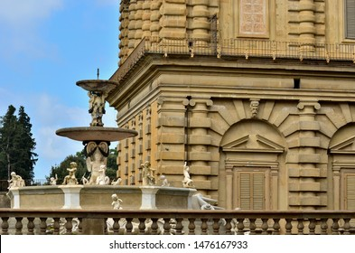 Detail of a typical florentine palace, Italy