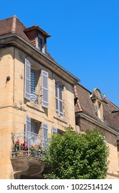 Detail from typical French house with balcony