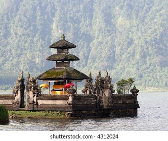 Detail of Ulun Danau temple in Bali, Indonesia