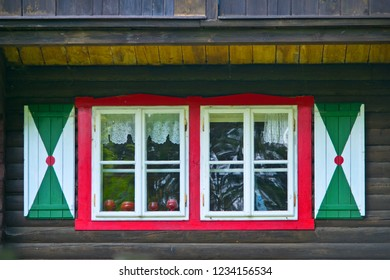 Detail of vernacular architecture in the Bohemian Forest. Czech Republic.