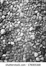 Detail vertical photo of a wall made of stone