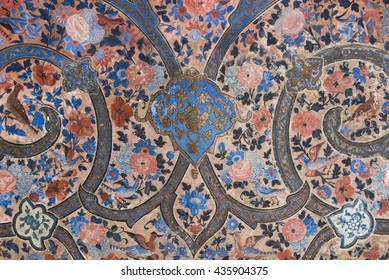 A detail view of the decoration in the Fin Garden or Bagh e Fin near the city of Kashan, Iran.