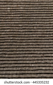 Detail view of old wooden roof.