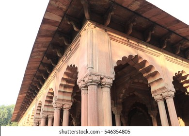 Detail View of the Red Fort in Delhi