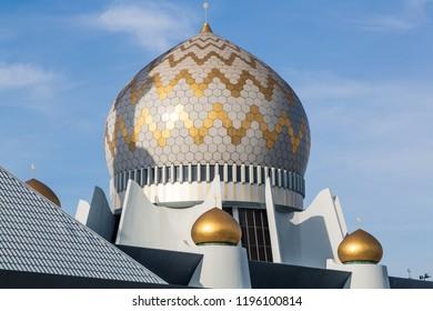 Detail view of Sabah State Mosque in Kota Kinabalu, Sabah, Malaysia.