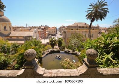Detail of Villa Rocca Garden in Chiavari, Genova, Liguria - Italy
