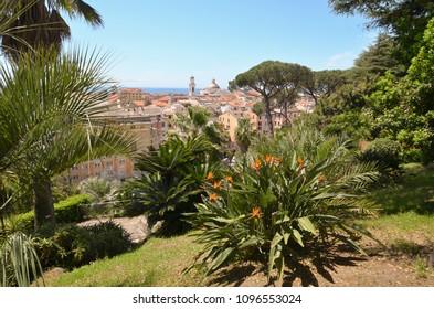 Detail of Villa Rocca Garden in Chiavari - Genoa - Liguria