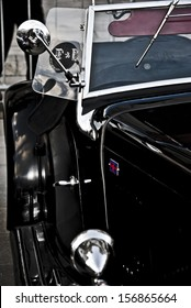 Detail of vintage car, 1930s Style