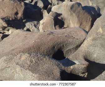 Detail of volcanic geology, Fossil Falls, cA