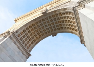 Detail of Washington Square arch