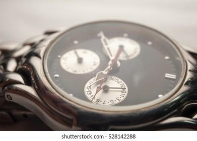Detail of watch. closeup macro shot