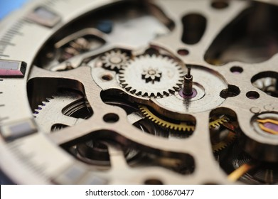 Detail of watch machinery.