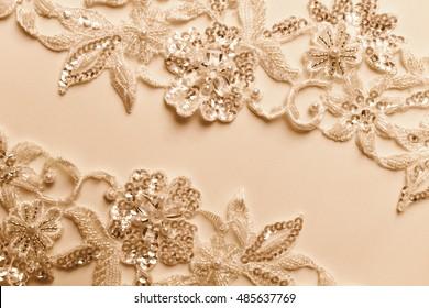 Detail of wedding dress - beautiful lace