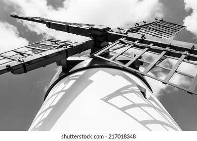 Detail of windmill, Sao Miguel, Azores, Portugal, Europe