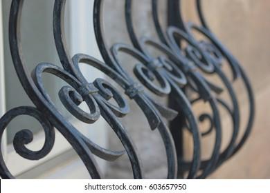 Detail of a window lattice / grid