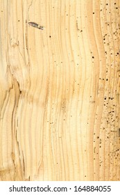 Detail of wood completely damaged by woodwoorm