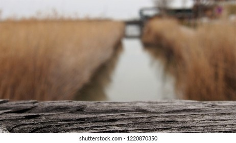 detail of wooden railing structure, Neusiedler See, Burgenland