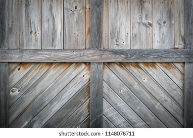 Detail of Wooden Shed Door - weathered