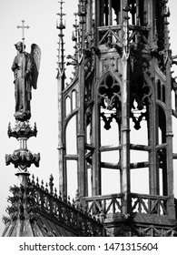 Detail of Wooden Spire atop the Royal Chapel in Paris