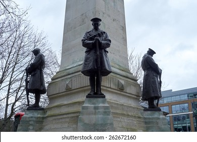 Detail of WW1 memorial in Euston Station, in London. The monument was erected in memory of the Northwestern Railway Company members who died at the war.