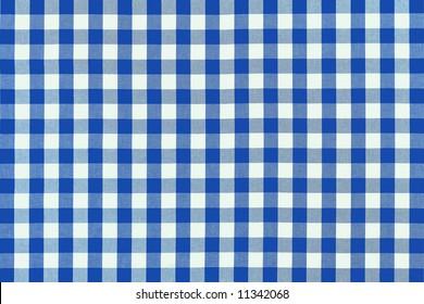 Detailed blue picnic cloth