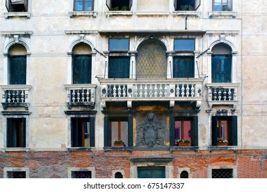 Detailed classical Italian building facade