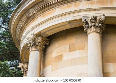 Detailed close up of Jephson Memorial in autumn, Jephson Gardens, Royal Leamington Spa, Warwickshire, England, UK, September 2017