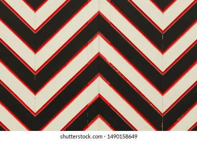 Detailed close up view on wooden surfice with painted stripes in high resolution. Vintage style
