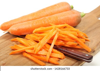 Detailed and colorful image of julienne carrots