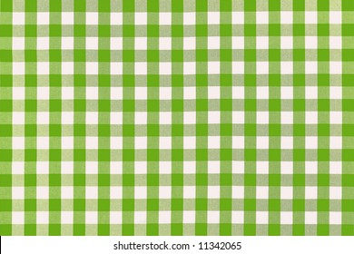 Detailed green picnic cloth