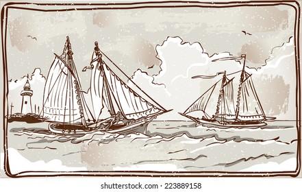 Detailed Illustration of a Vintage Page with Placeholder Menu Illustration