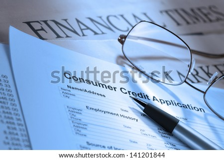 detailed image consumer credit application form stock photo edit