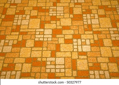Detailed image of a linoleum tile background from the 1970s.