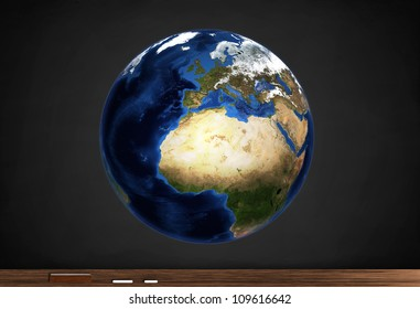 Detailed map of the Earth for study.