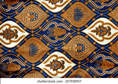 detailed patterns of Indonesia batik cloth