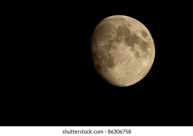 detailed photo of moon via telescope