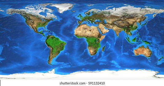World map satellite images stock photos vectors shutterstock detailed satellite view of the earth and its landforms global world map elements of gumiabroncs Images