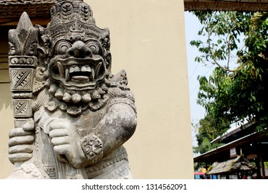 Detailed scary statues in Bali