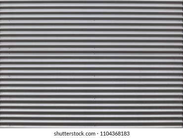a detailed shot of a new corrugated sheet metal