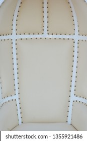 detailed texture and pattern leather seat upholstery