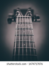 Detailed view of a guitar