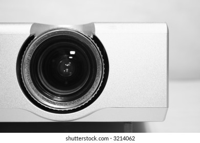 detailed view of a home cinema projector/beamer [high key]