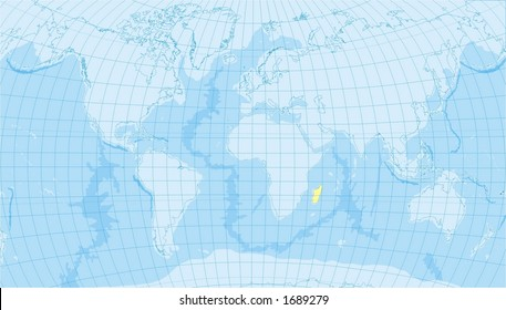 Detailed world map countries oceans borders stock photo royalty detailed world map with countries oceans borders meridians gumiabroncs Image collections