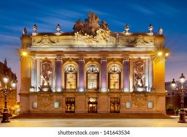 Detailled vied of great opera of Lille in north of France