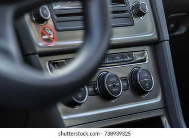 Details of the air control in a car