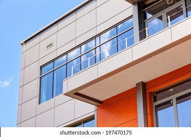 details of aluminum facade and aluminum panels
