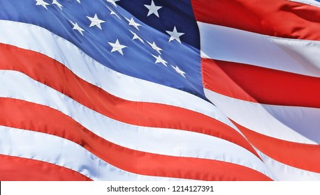 Details of American flag to use for backgrounds