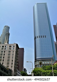Details of architecture in the business district of Los Angeles, United States
