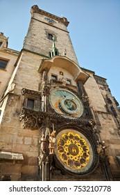 Details of Astronomical Clock Tower, Prague, Czech Republic. - Shutterstock ID 753210778