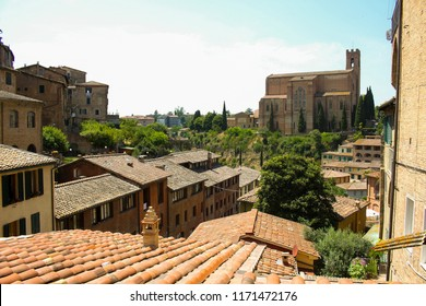 Details of beautiful city of Siena in Toscana, Italy taken on most difficult time for photography, noon!